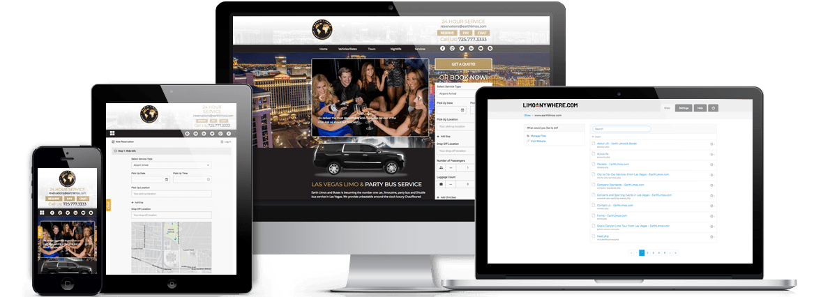 Earth Limos Website Redesign & CMS Integration