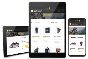 Magento eCommerce on mobile devices half section images