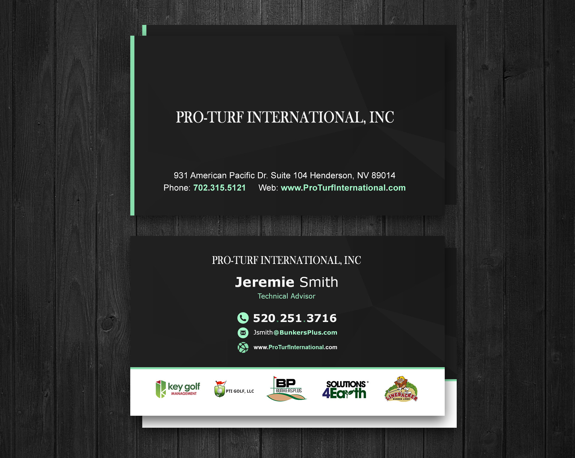 Graphic Design of Business cards