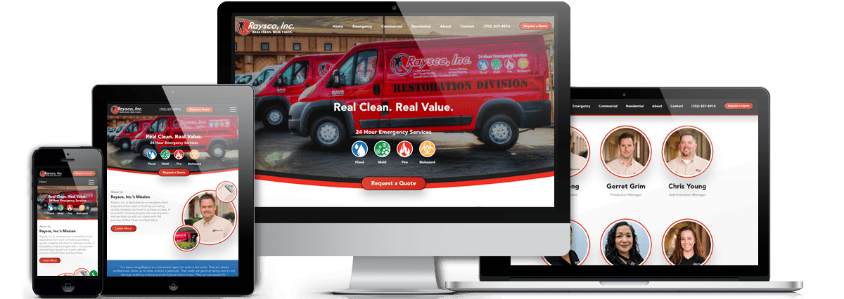 Raysco, Inc Website Redesign Project devices-view