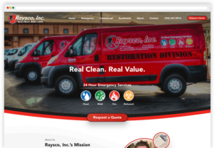 Raysco, Inc Website Redesign Project webpage-view