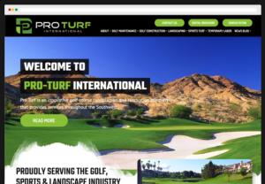 Pro Turf International Custom WordPress Website webpage-view