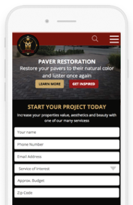 Treidgen Industries Website Redesign Project mobile-view