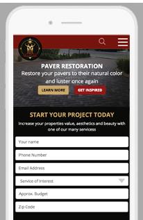 Treidgen Industries Website Redesign Project mobile-view
