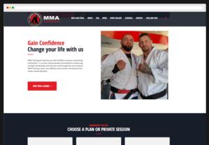 David Howard's MMA Corner WordPress Website Desktop View