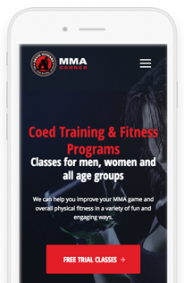 David Howard's MMA Corner Wordpress Website Mobile View