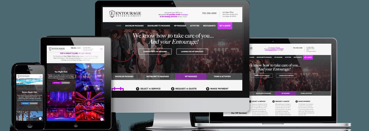 Entourage Entertainment Responsive Website Views