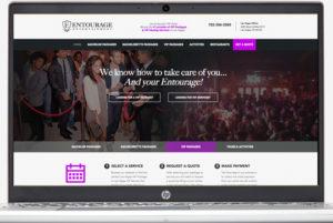 Entourage Entertainment Website Redesign
