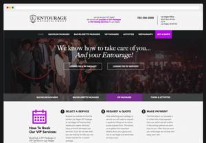 Entourage Entertainment Responsive Web Page Views