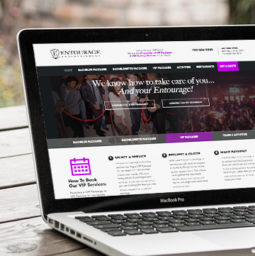 Entourage Entertainment Website Redesign