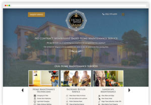 Trajan HomeServices WordPress Website desktop view