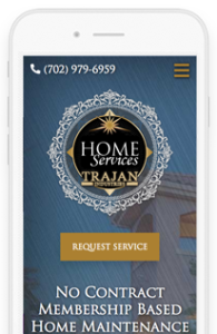 Trajan HomeServices WordPress Website mobile view
