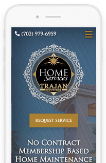 Trajan HomeServices Wordpress Website mobile view