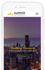 Summit Partnership mobile view
