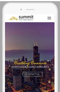 Summit Partnership mobile view