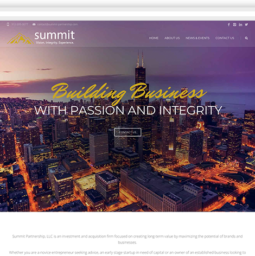Summit Partnership webpage view