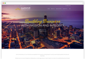 Summit Partnership webpage view